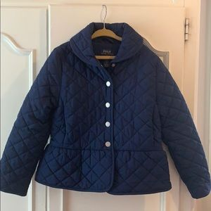 Navy quilted barn coat by Polo Ralph Lauren